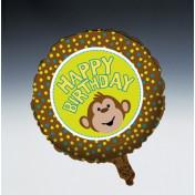 041692 Monkeyin' Around Metallic Balloon