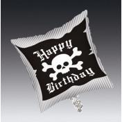 045018 Pirate Parrty! Square Metallic Balloon