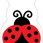 075019 Ladybug Fancy Shaped Cello Bag