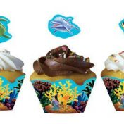 195325 Ocean Party Cupcake Wrapper & Picks