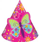 205691-Butterfly Sparkle Pop-Out Child Party Hats
