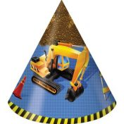 205955 Under Construction Child Size Child Party Hats