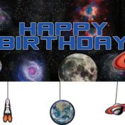 295533-Space Blast Giant Party Banner