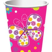 375691-Butterfly Sparkle 9 Oz Cup
