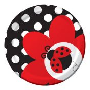 415019 Ladybug Fancy 7 Lunch Plates