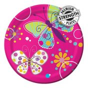 415691-Butterfly Sparkle 7in Foil Lunch Plates