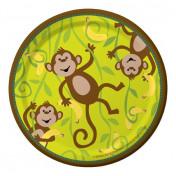 415692 Monkeyin' Around 7 Lunch Plates