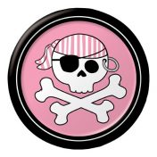 419018 Pirate Parrty! Girl 7 Foil Lunch Plates