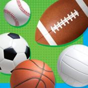 651783 Celebrate Sports 2-Ply Beverage Napkins