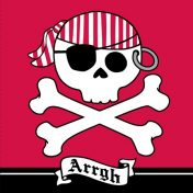 669018 Pirate Parrty! Arrrgh 3-Ply Lunch Napkins