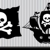 725018 Pirate Parrty! Plastic 54x108 Tablecover
