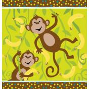 725692 Monkeyin' Around Plastic 54x108 Tablecover