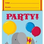 895684-Circus Time! Vertical Pop-Up Invitations