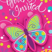 895691-Butterfly Sparkle Postcard with Attachment Invitations