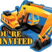 895955 Under Construction Invitations