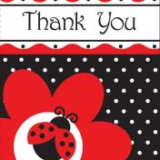 899019 Ladybug Fancy Thank You's
