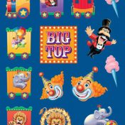 Big Top Party Value Stickers