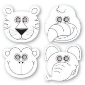 Jungle Buddies Colouring Masks