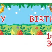 Jungle Buddies Large Banner With Stickers