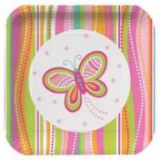 Mod Butterfly Luncheon Plate