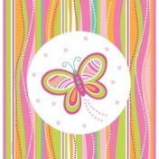 Mod Butterfly Plastic Tablecover  54x108