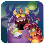 Monster Mania 7 Square Lunch Plates