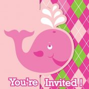 Ocean Preppy Girl Invitation