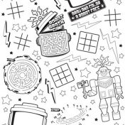 Party 'Bots Activity Paper 54x108 Activity Tablecover