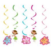 035820 Pink Luau Fun Dizzy Danglers Multi-Pack