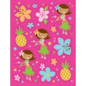041820 Pink Luau Fun Value Stickers