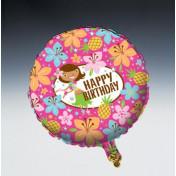 045820 Pink Luau Fun Metallic Balloon