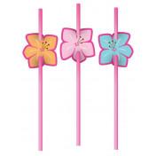 191820 Pink Luau Fun Attachment on Straws