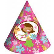 205820 Pink Luau Fun Child Party Hats