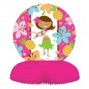 265820 Pink Luau Fun Honeycomb Centerpiece