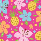 655820 Pink Luau Fun 3-Ply Beverage Napkins