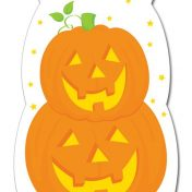 077205 Stacked pumpkins cello treat bags 38
