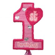 JHL821210  76438_1st_birthday_pink_expandable_pull_string_pinata
