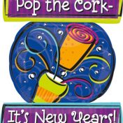 AN22803 24 Inch New Year Pop the Cork Balloon$120