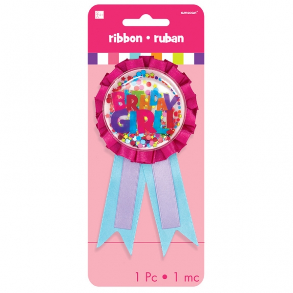 Birthday Girl Confetti Award Ribbon
