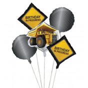 040590 - Construction Birthday Zone Balloon Cluster
