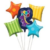 041546 - Little Dino Party Balloon Cluster