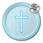 412243 - Lunch Plate Faith Blue