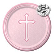 412244 - Lunch Plate Faith Pink