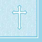 652243 - Beverage Napkin Faith Blue