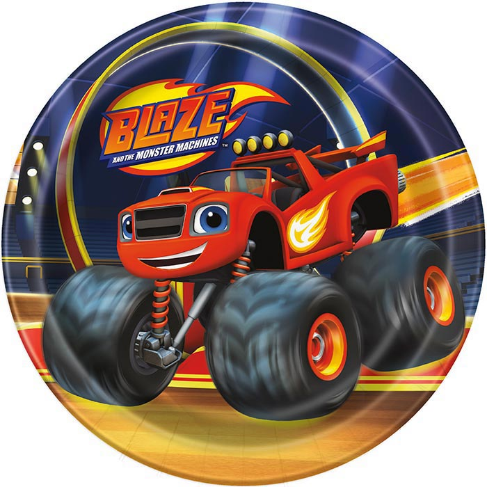 "Amigos Tire Shop >> Blaze and The Monster Machine 7"" Plates - Simply Love ..."