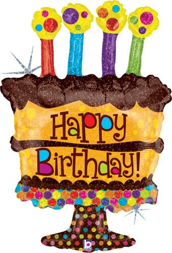 Shape Chocolate Birthday Cake Balloon 27